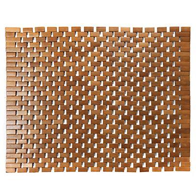 Caillebotis 50x60cm en bambou salle de bain