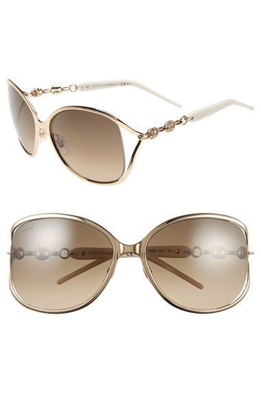 a41eab34296 Wishful thinking ~Gucci  Marina Chain  60mm Swarovski Crystal Sunglasses  available at  Nordstrom