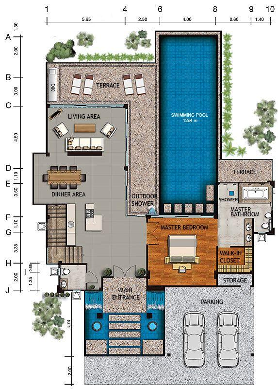 Villa Legenda Ls Modern House Floor Plans House Floor Plans Pool House Plans