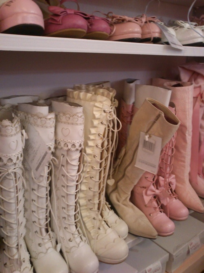 These boots were made for shabby chics - anyone know where I can buy some?