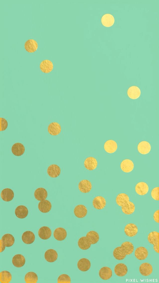 Gold Foil Dot Wallpaper