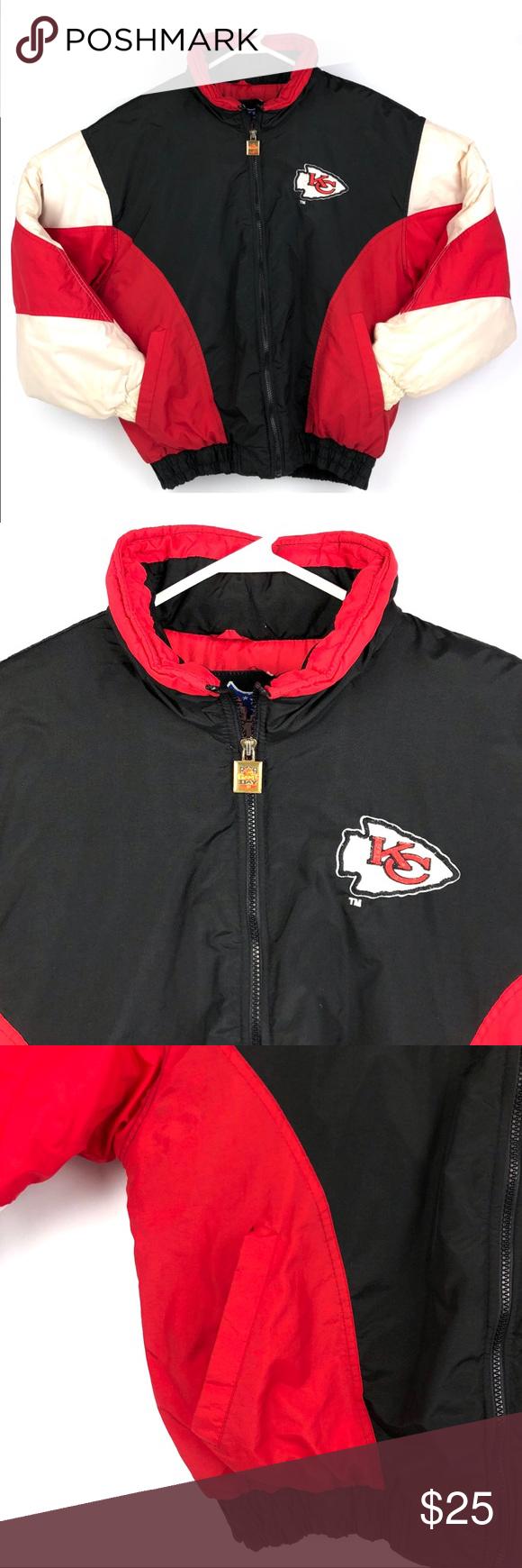 Vintage 90s Kansas City Chiefs Puffer Coat Jacket Puffer Coat Coats Jackets Puffy Jacket [ 1740 x 580 Pixel ]