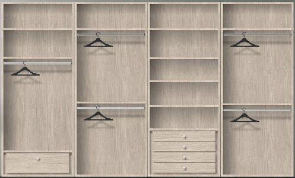 Organizaci n de armarios buscar con google armarios for Distribucion de armarios empotrados por dentro