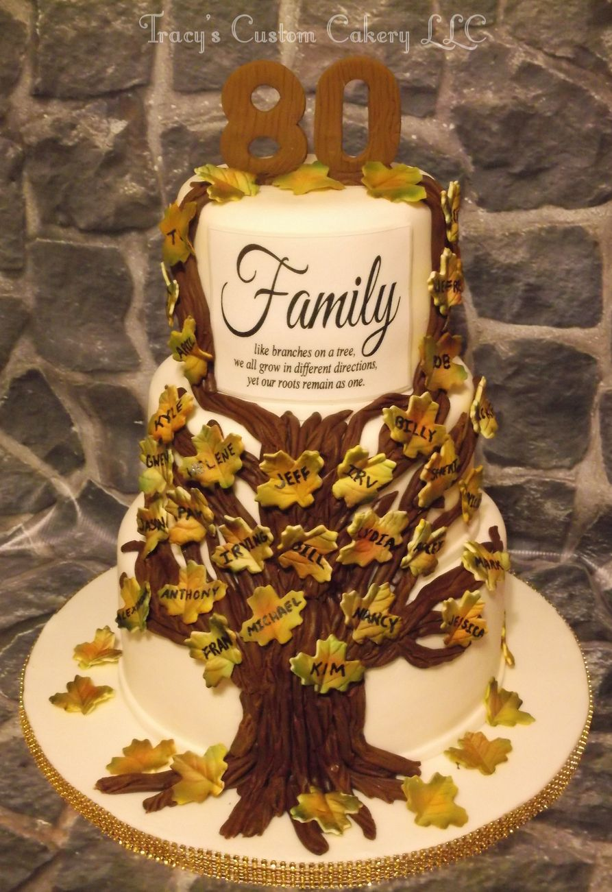 Groovy Family Tree 80Th Birthday Cake With Images 80 Birthday Cake Funny Birthday Cards Online Hendilapandamsfinfo