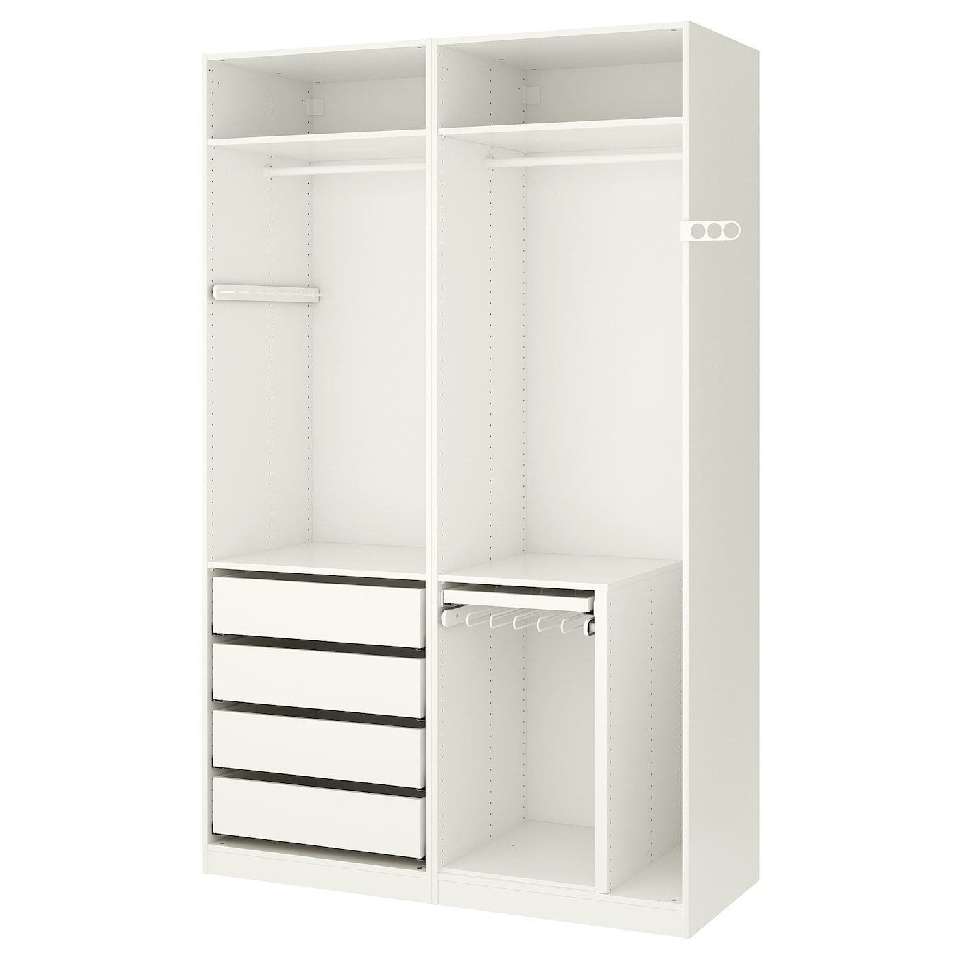 IKEA PAX White Wardrobe in 2019 Organization ideas Pax