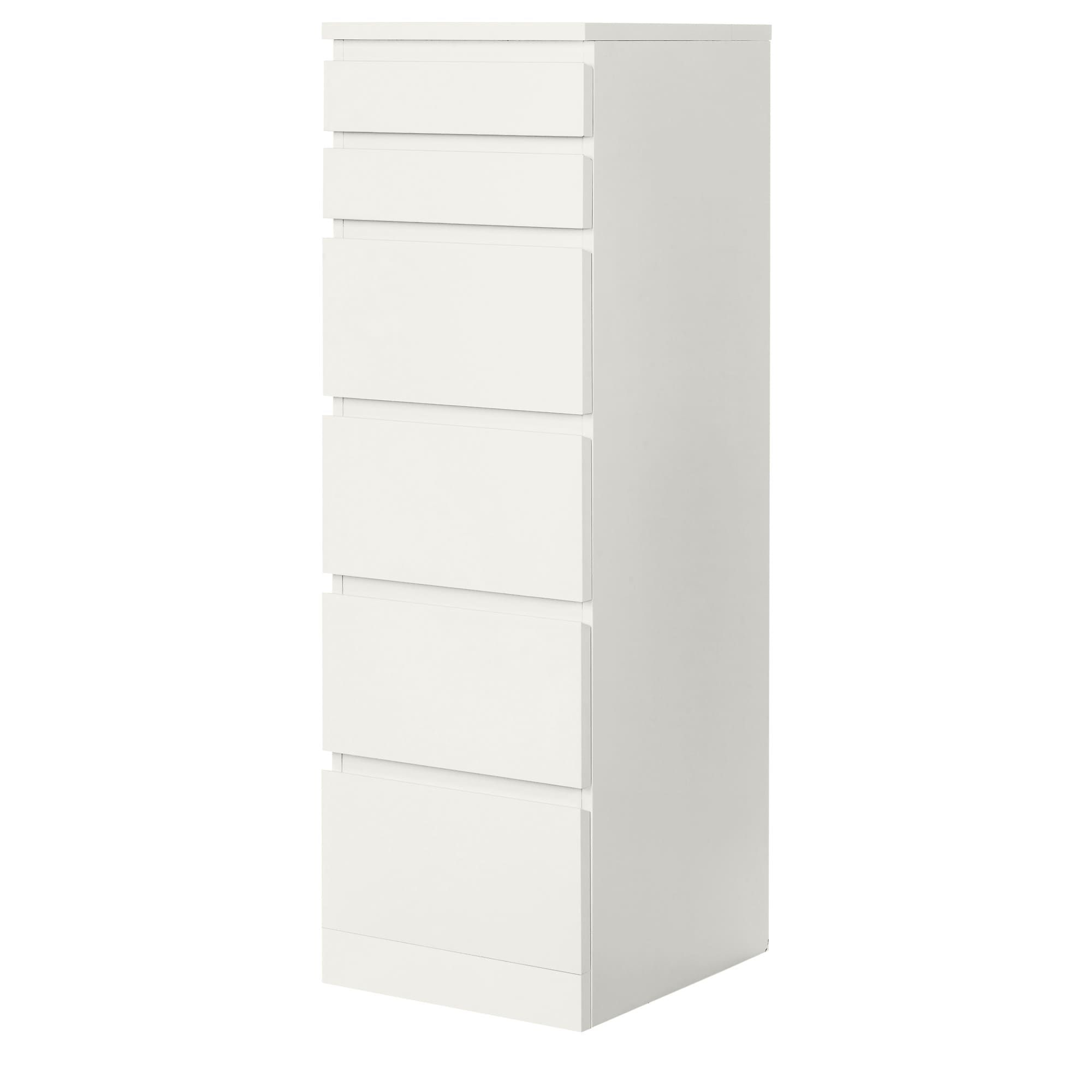 Best Malm Chest Of 6 Drawers White Mirror Glass 40X123 Cm 640 x 480