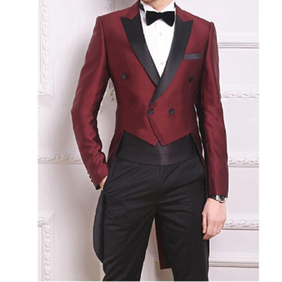 Burgundy tailcoat