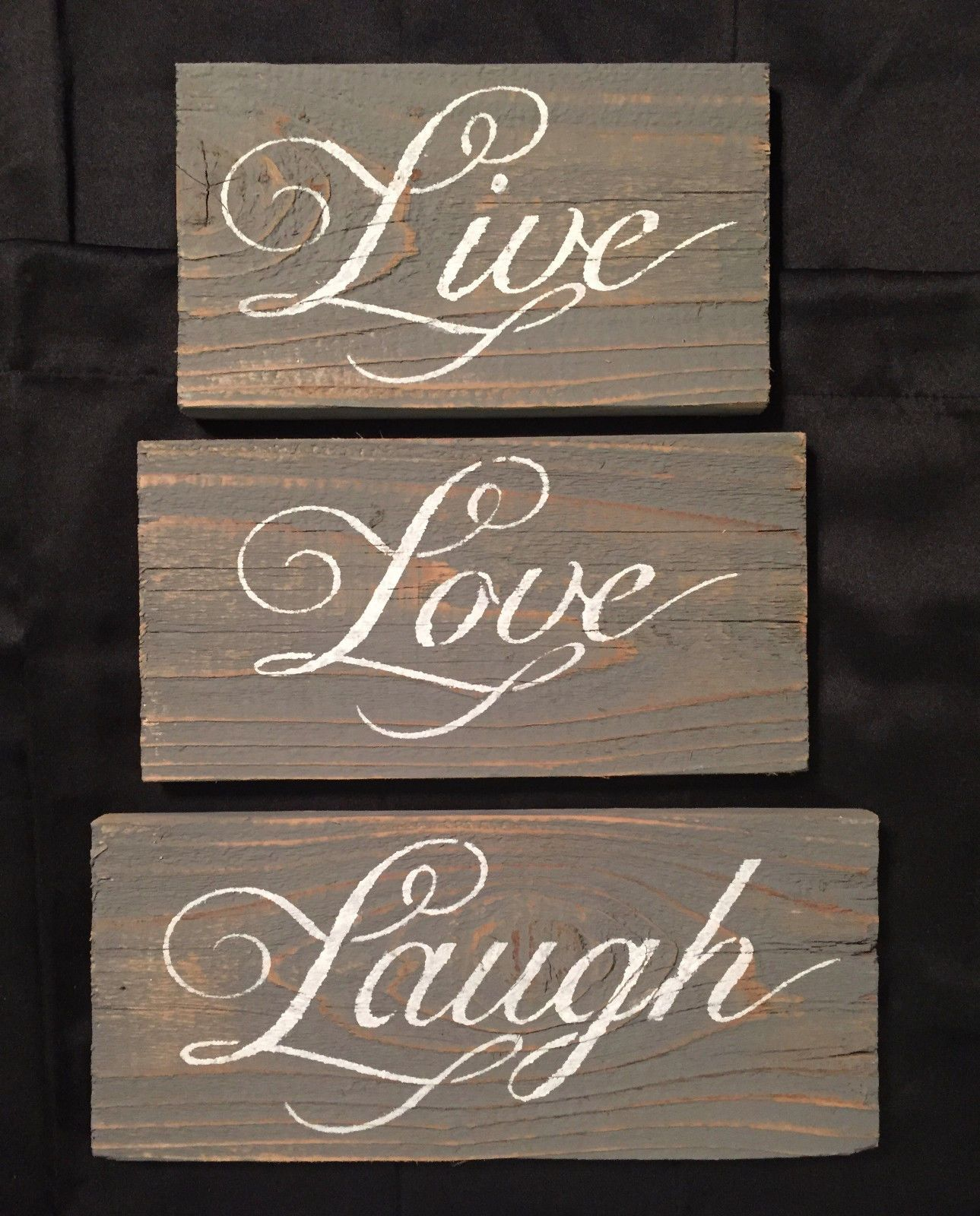 LIVE LOVE LAUGH Rustic Wedding Inspirational Sign