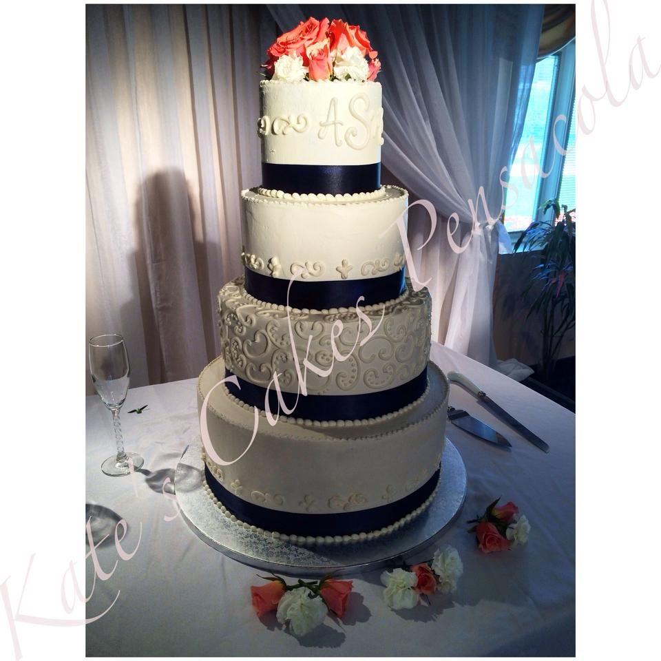 Cake All Buttercream Wedding Pensacola