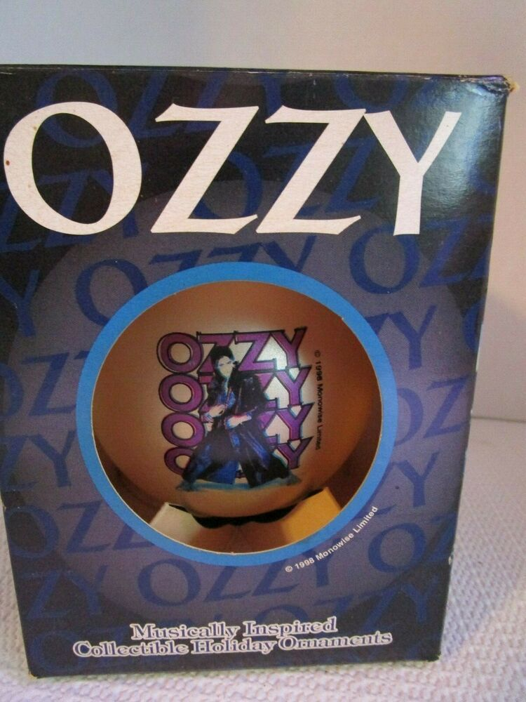 """OZZY Osbourne 1998 Holiday Collectible 3"""" Ornament NEW in"""