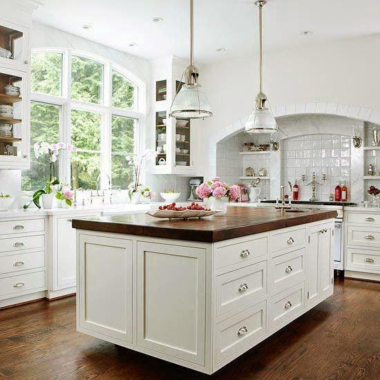 Las 19 islas de cocina vintage que te encantaría tener en tu casa - cocinas con isla