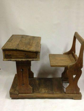 Robuust Houten Bureau.Vintage Bureautje Prachtig Robuust Handgemaakt Houten Bureau Met Een