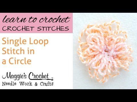 Crochet Single Loop Stitch Circle Mustre Za Heklanje Pinterest