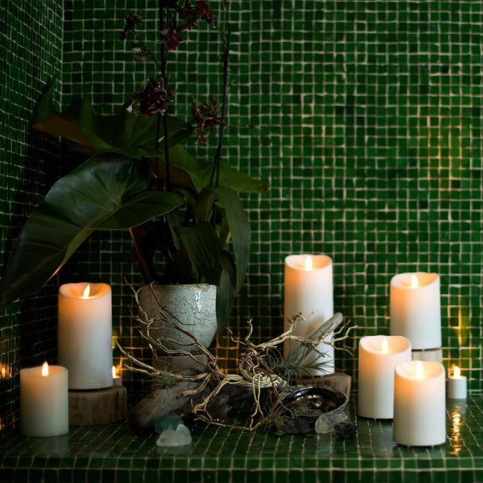 15 Beautiful Home Decorating Ideas With Flameless Candles Flower