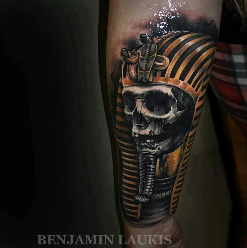 Pharaohs Skull Pharaoh Tattoo Tattoos For Guys Tattoos