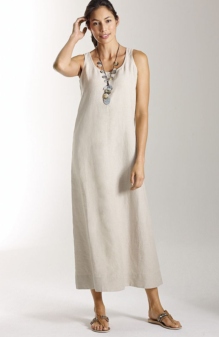 J Jill Dresses Long Linen Tank Dress At