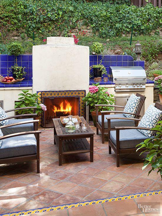 patio patio fireplace outdoor