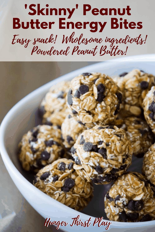 'Skinny' Peanut Butter Energy Bites