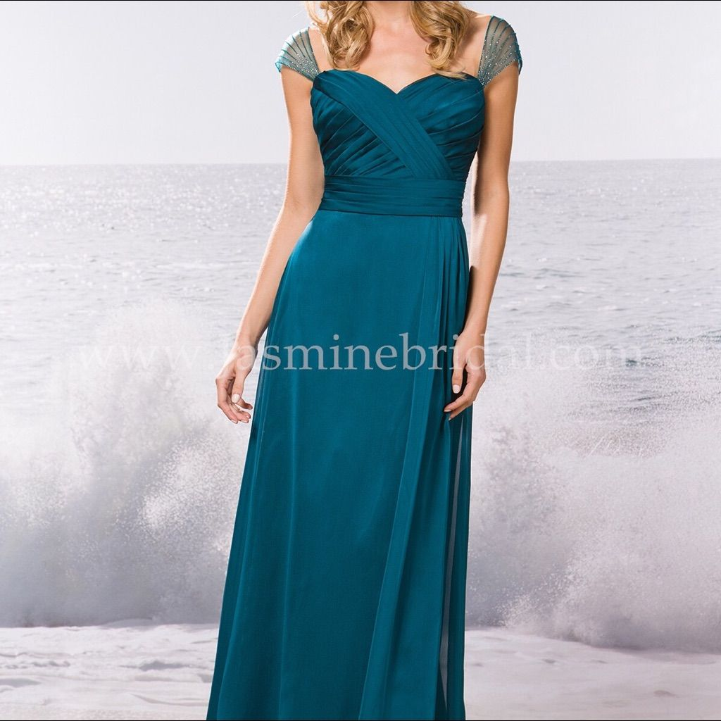 Belsoie full length teal gown teal and products