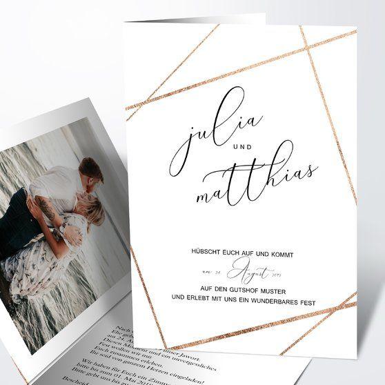 Klare Linien Vertikale Klappkarte 105x148 Weiss In 2018 Hochzeit