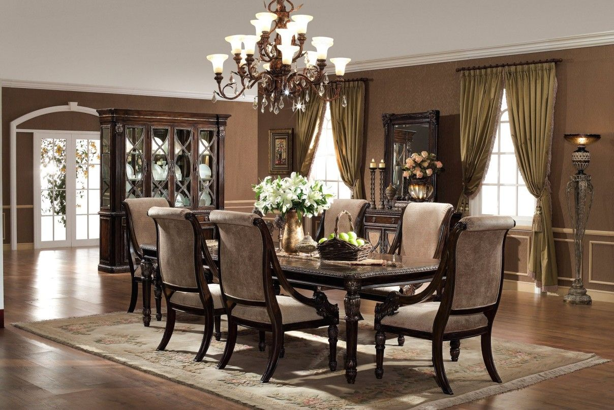 Elegant Formal Dining Room Sets With Strong And Durable Material Captivating Decorative Flowers On Clic