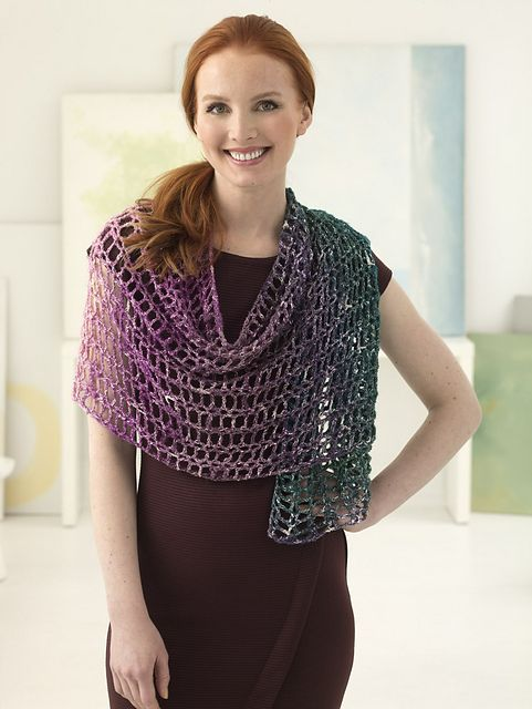 Free Crochet Pattern: Sparkle Shawl from Lion Brand   Crochet ...