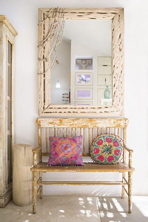 Muebles en lugares imposibles cojines tnicos para sillas - Sillas de recibidor ...