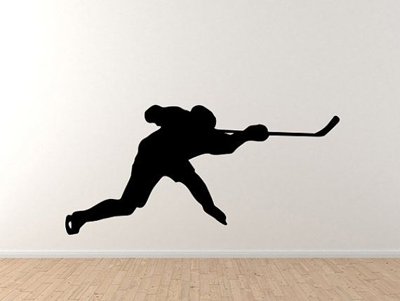 Hockey Player Slapshot Silhouette Shadow Version 5 Wall ...