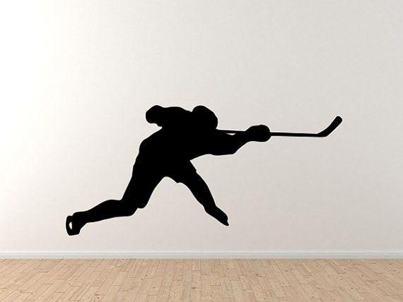 Hockey Player Slapshot Silhouette Shadow Version 5 Wall ...