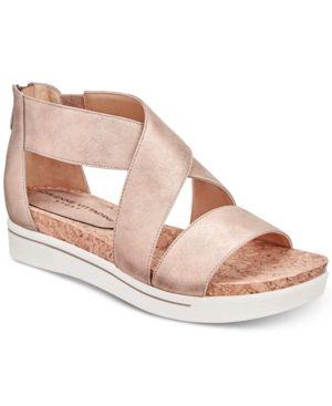 Adrienne Vittadini Claud Sport Flatform Sandals Women S