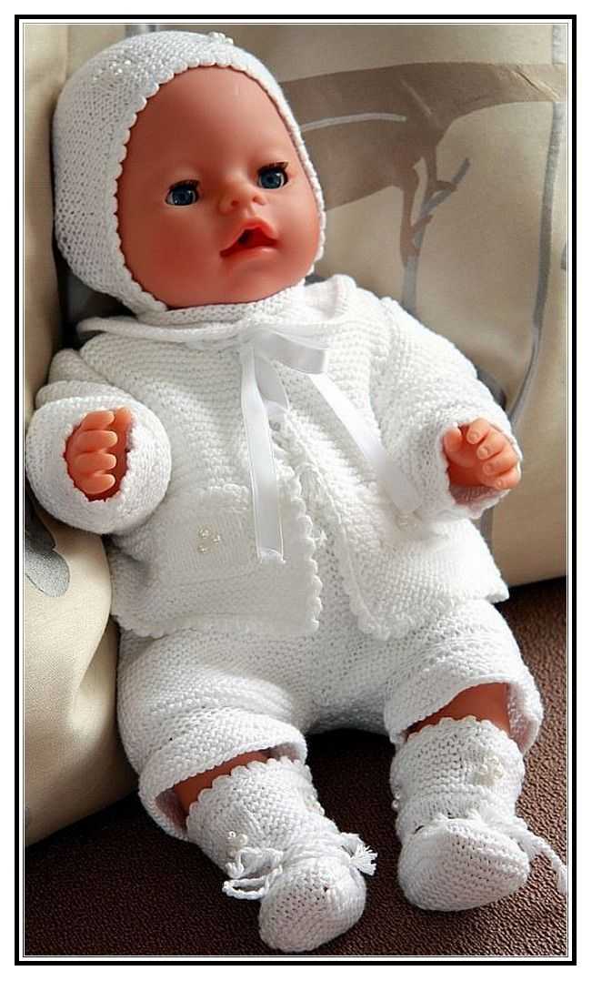 Baby Doll Clothes Knitting Patterns Free Knitting Pinterest