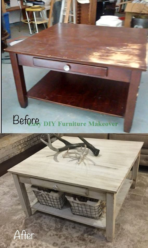 14 Unique Ways To Makeover Your Furniture In 2020 Diy Furniture Table Coffee Table Makeover French Shabby Chic Furniture