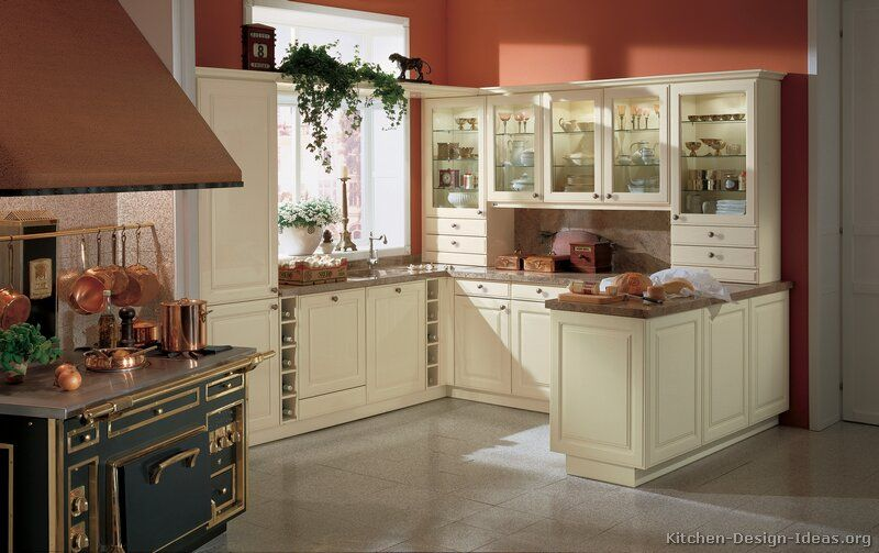 27 antique white kitchen cabinets amazing photos gallery for Burgundy kitchen cabinets pictures