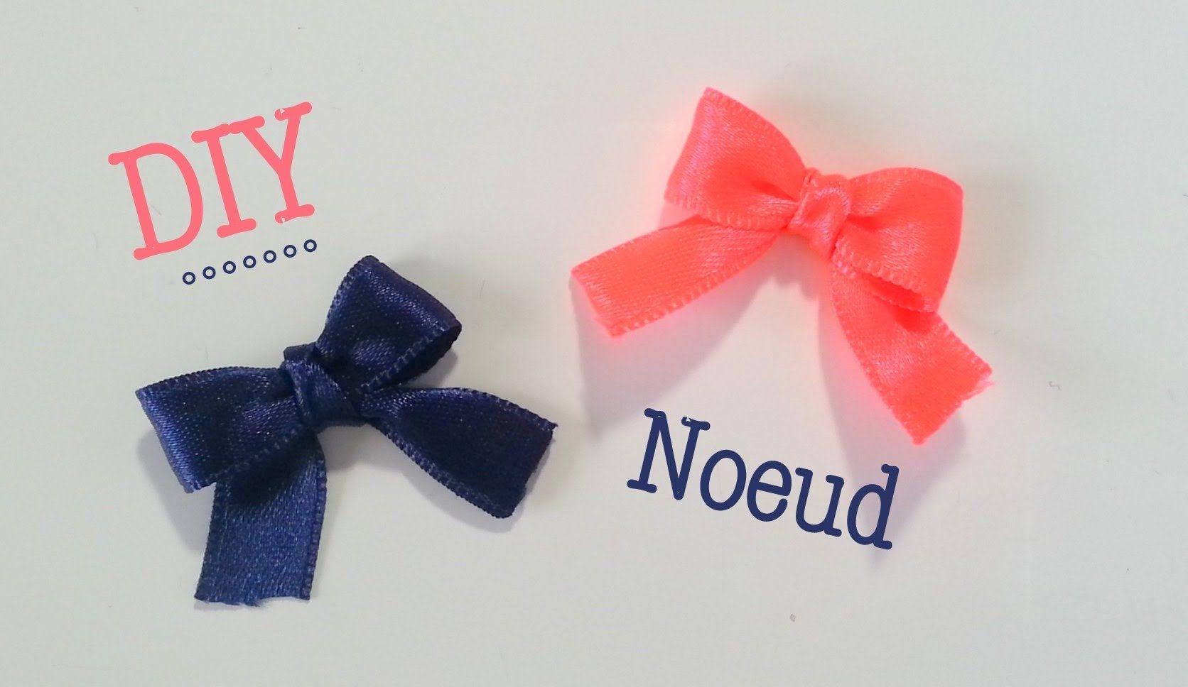 Diy Faire Des Petits Noeuds Ruban Avec Une Fourchette Nœud En
