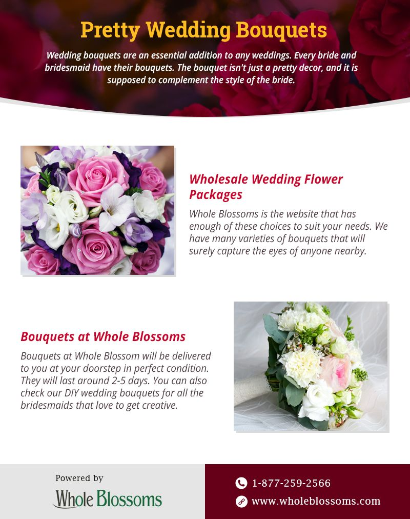 In This Infographic You Can Get The Best Knowledge About Wedding Flower Packages Diy Wedd Flower Packaging Wedding Flower Packages Buy Wedding Flowers Online