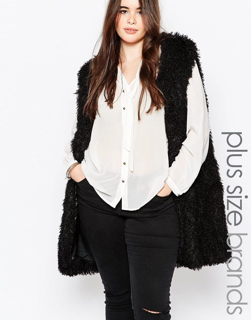 20 plus size faux fur vest | faux leather | pinterest | faux fur vests