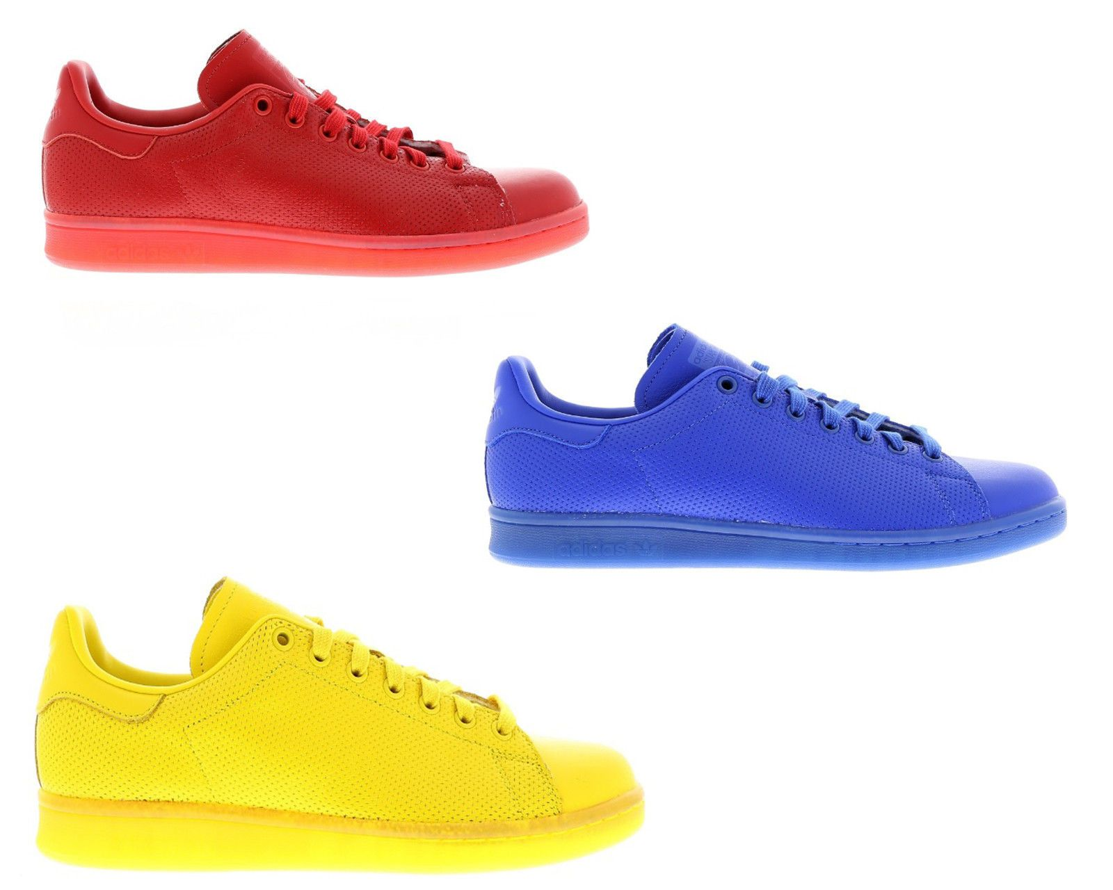 new arrival 41706 b7404 Original adidas stan smith adicolor leather blue red yellow ...