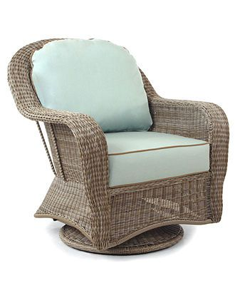 Sandy Cove Wicker Outdoor Swivel Glider, Created for Macy\'s | Rattan ...
