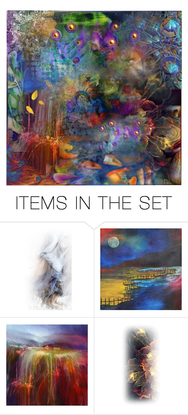 """Abstract"" by sweetannie ❤ liked on Polyvore featuring art"