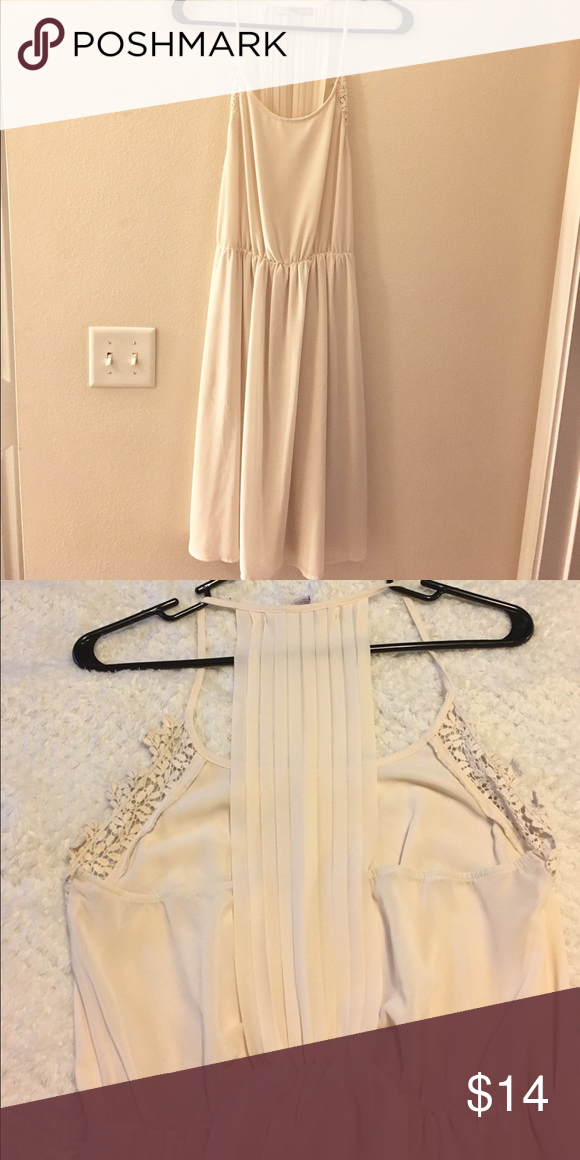 Cream Forever 21 Dress Cream Forever 21 dress, beautiful detailing on front and back! Worn once! Forever 21 Dresses