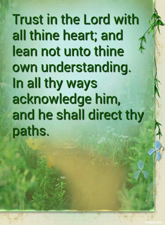 Proverbs 3:5-6 KJV Trust in the Lord with all thine heart; and lean not unto thine own understanding. In… | Healing words, Biblical encouragement,  Prayers for him