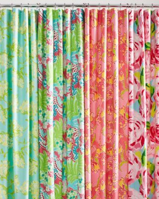 Lilly Pulitzer Sister Florals Shower Curtain Curtains Lilly