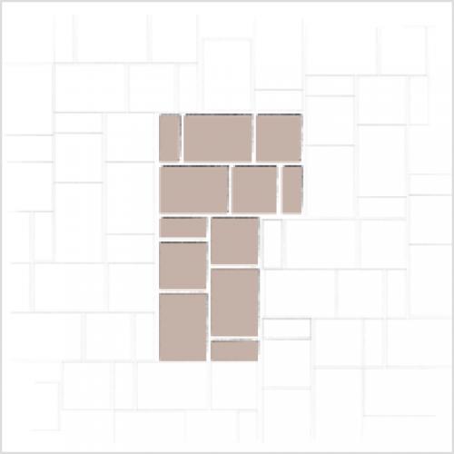 Walkway Paver Patterns 3 Size | Dublin Cobble (Modular 3pc