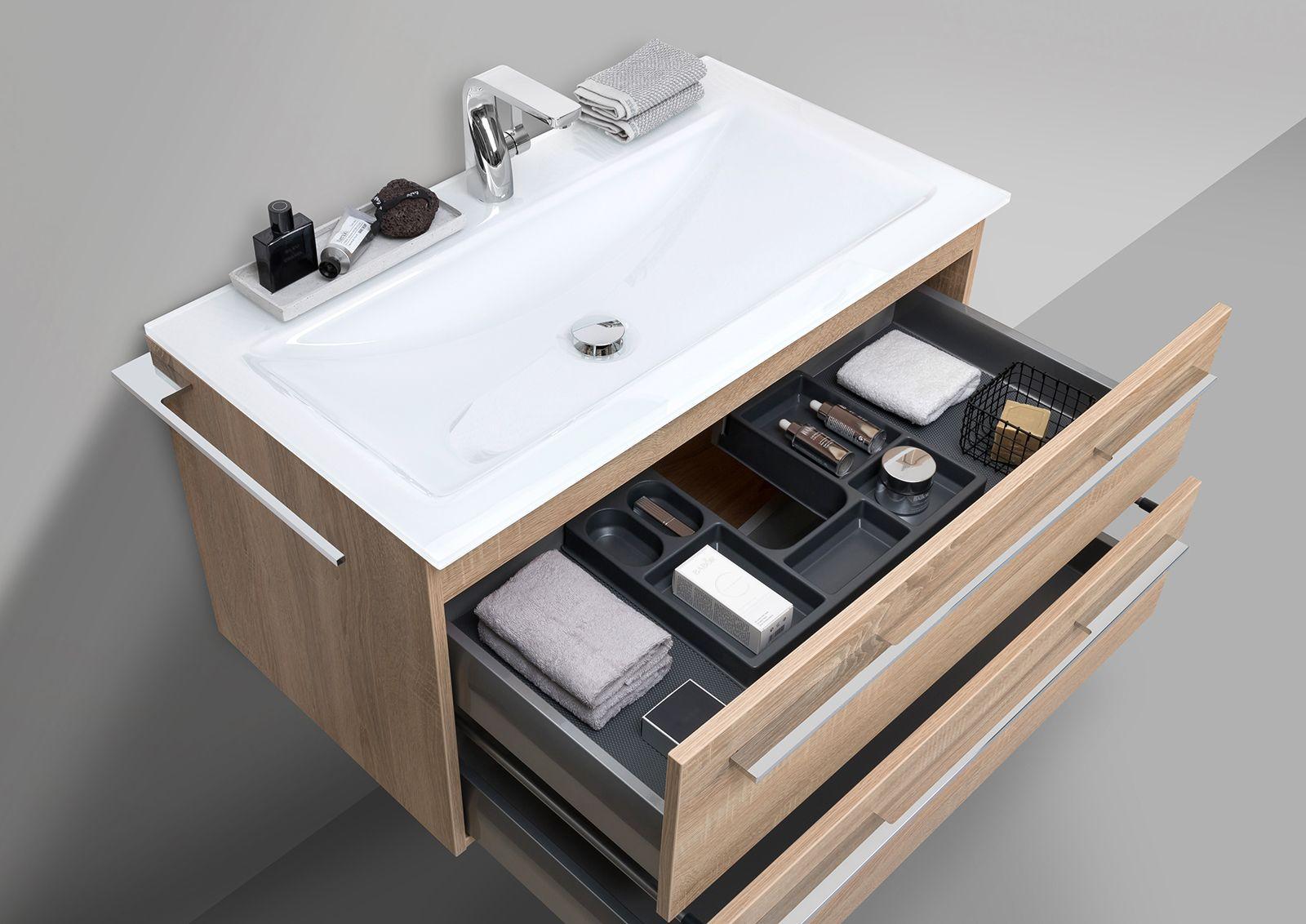 Designbaeder Com Glaswaschtisch Waschtisch Set Unterschrank