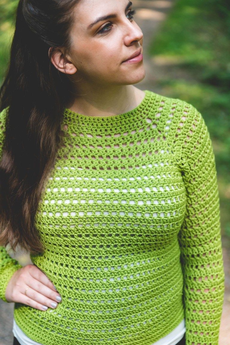 Easy Pullover Sweater Free Crochet Pattern Crocheting