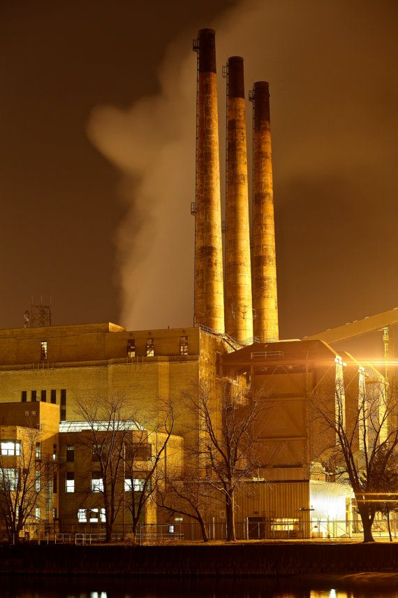 Michigan City, Indiana. Power Plant.