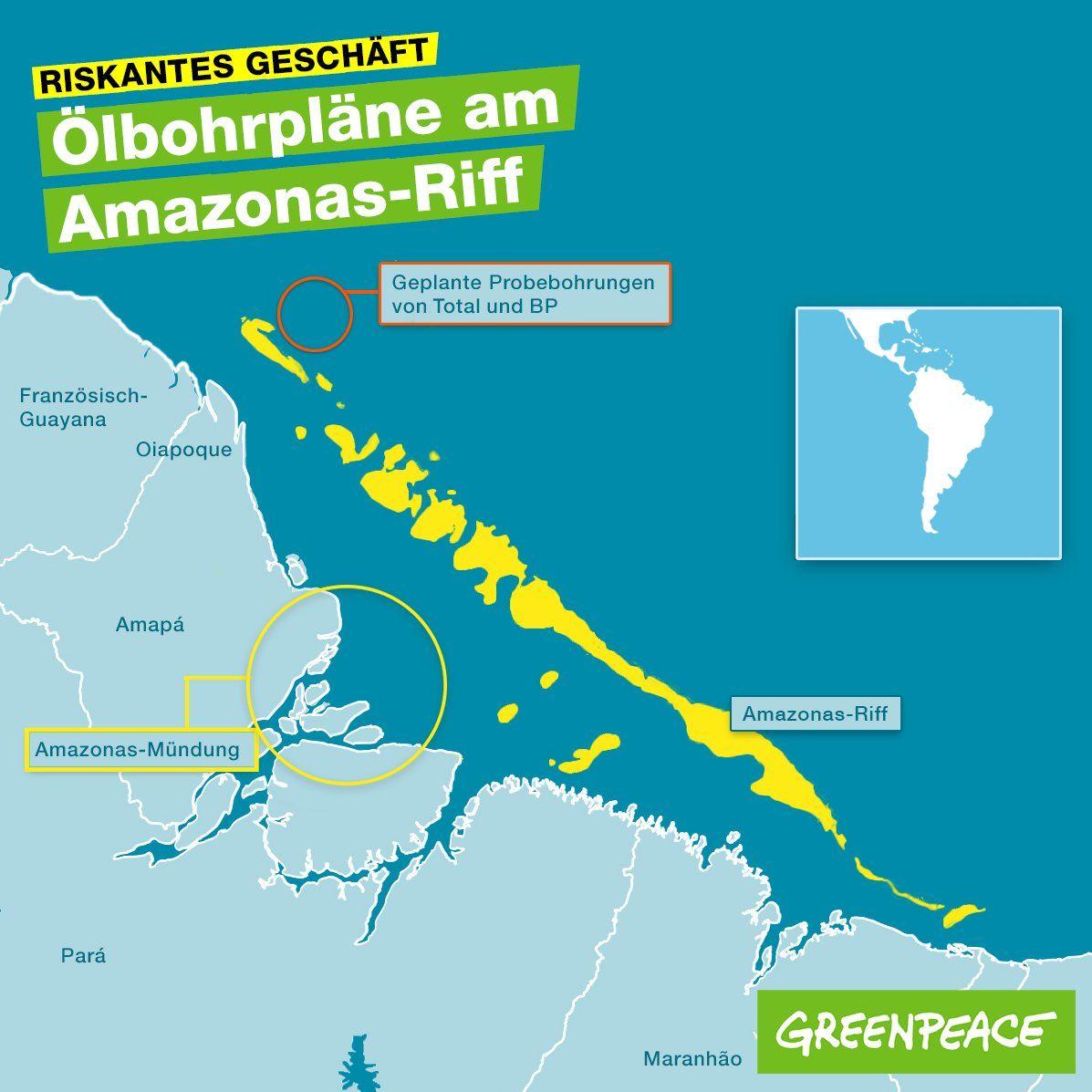Amazonas Riff Retten Olbohrplane Stoppen Amazonas Planer Planen