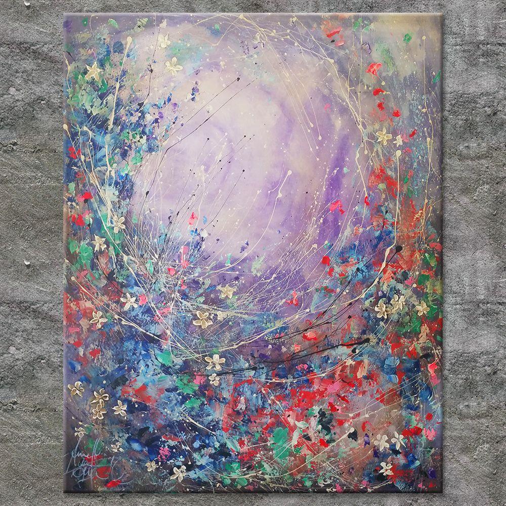 Nettis Art Annette Freymuth Acrylbild In Farbspachteltechnik Auf