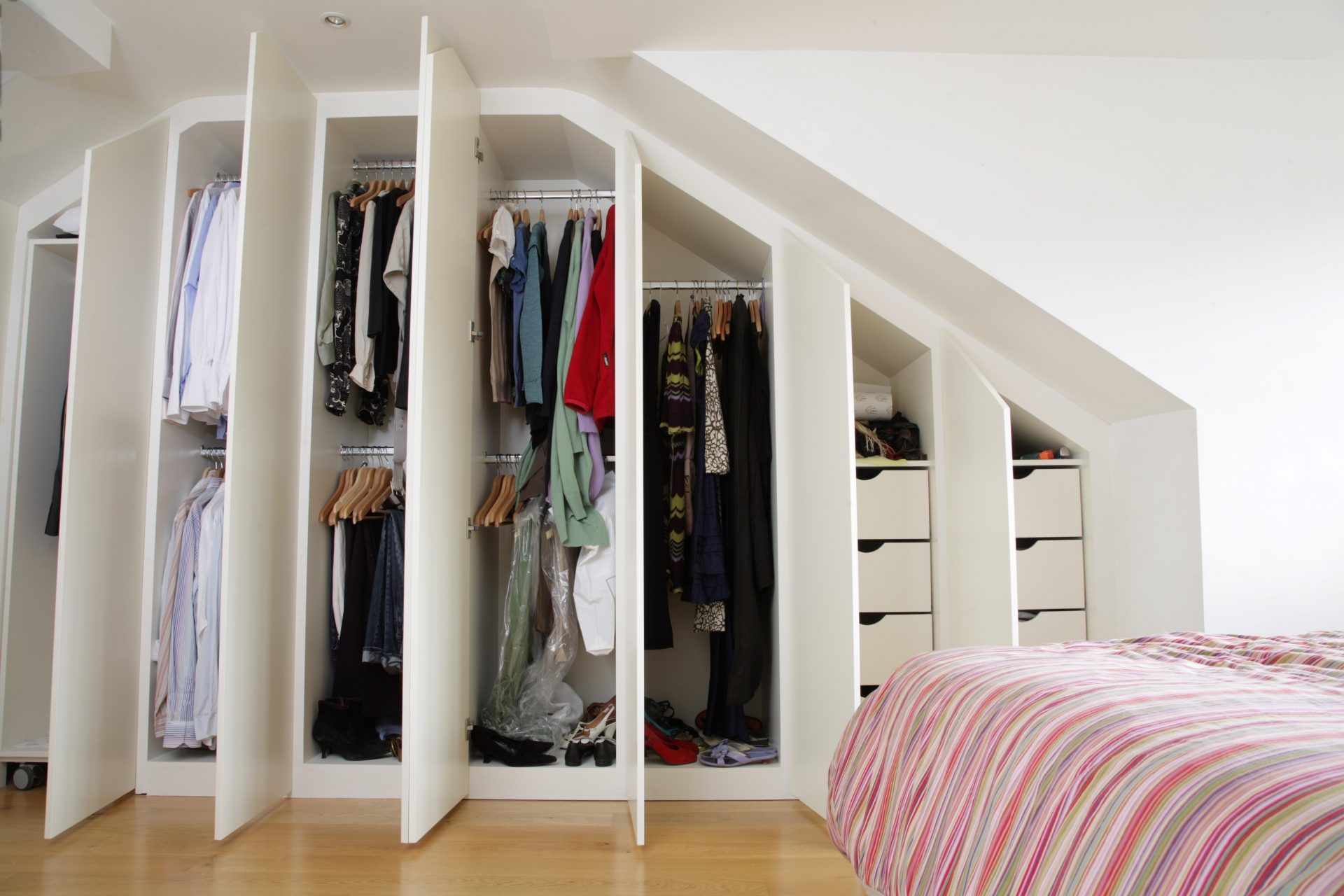 Contemporary Fitted Wardrobes For Loft Bedroom Joat London
