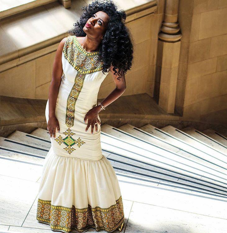 Flag Traditional Cloths Seni Fashion Ethiopian